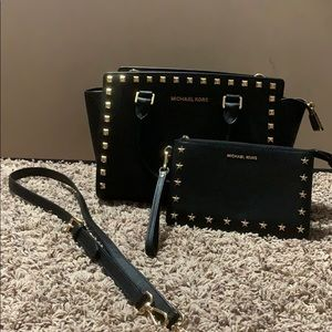 Studded Michael Kors Purse with Wallet